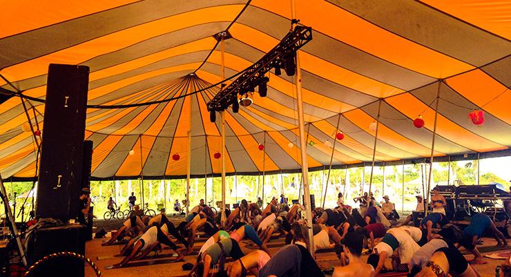 MC Yogi Yoga at the Dance Tent.