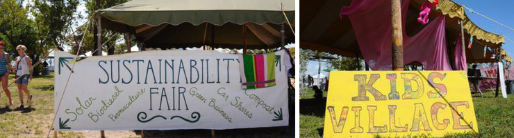 LEFT: Sustainability Fair. RIGHT: Kids Village. (Photos: Carolina Sarmiento)