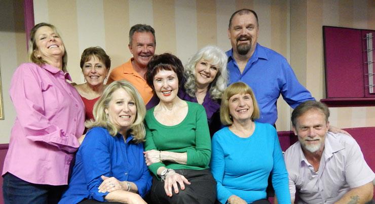 Janet Weakley, Carol Sussman, Mark Kroczynski, Kitt Marsh, Troy Stanley Front row from left to right: Beverly Blanchette, Ellen Wacher, Marj O'Neill Butler, Todd Caster