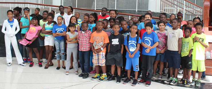 The kids at the Arsht Center of the Performing Arts.