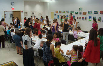 Miami Public Library Mask Making program (courtesy Miami Public Library)