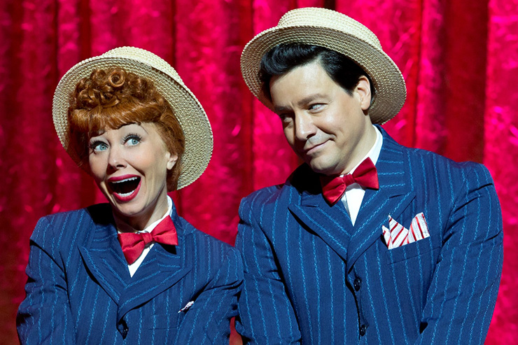 Sirena Irwin as Lucy and Bill Mendieta as Ricky from the 13-14 national tour of LUCY LIVE.