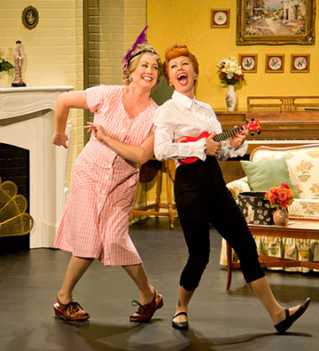 Joanna Daniels as Ethel and Sirena Irwin as Lucy from the 13-14 national tour of LUCY LIVE.
