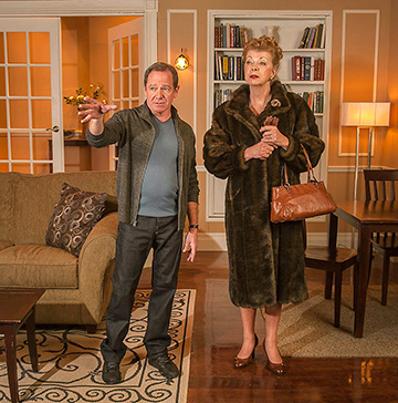 Michael McKeever and Angie Radosh in MOTHERS AND SONS by Terrence McNally. Directed by Joseph Adler at GABLESTAGE September 20 thru October 19.