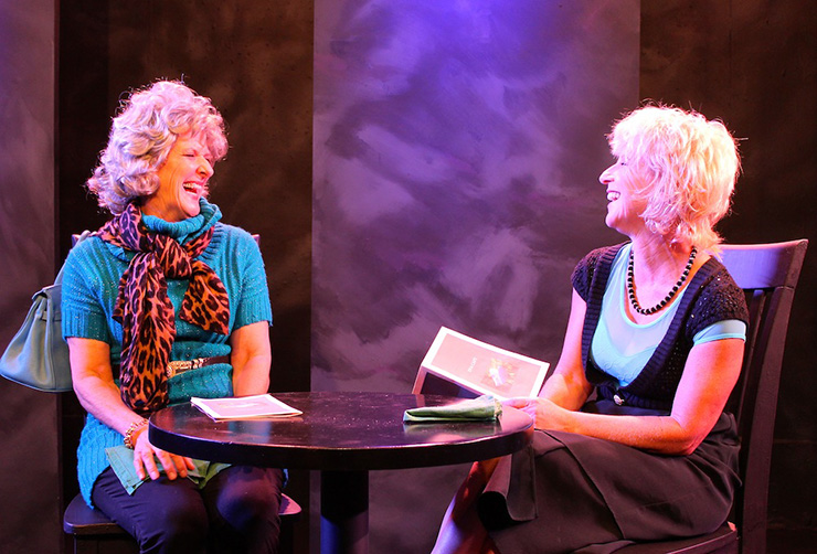 Janet Weakley and Elissa Solomon in Mrs. Greenblatt's Place in the Universe.