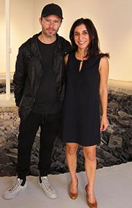 Daniel Asham with Locust Projects Exec Director/Curator Chana Sheldon (photo by Irene Sperber)