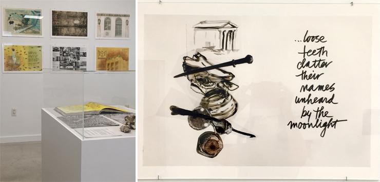 LEFT: Exhibition. RIGHT:Brickell Mausoleum: Sarah Stites Artist; Jessical Machado Writer.