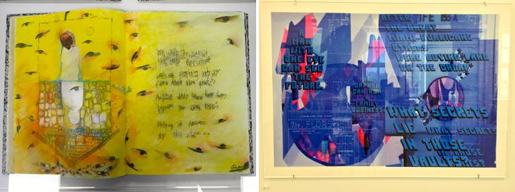 LEFT: Plantation Slave Quarters: Gary Moore Artist; Nadege Green Writer. RIGHT: Alfred I Dupont Building: Michelle Weinberg Artist; Denise Duhamel Writer.