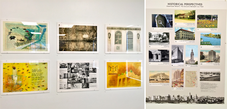LEFT:Pages from the Book on Display. RIGHT:Poster of Landmarks.