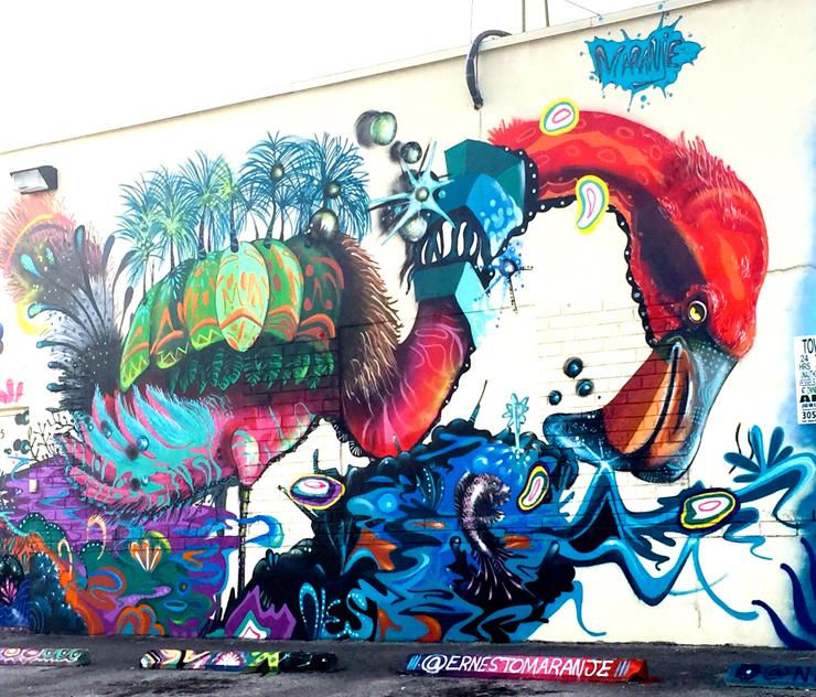Ernesto Maranje's Mural<br> Courtesy of @miamiartcollective