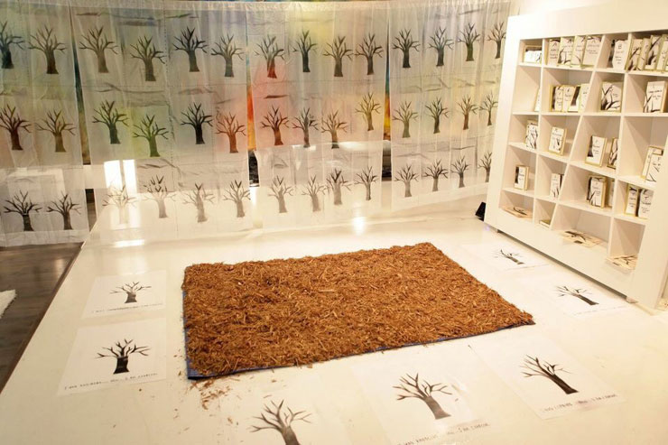 Roots, an installation by Carmem Gusmao.