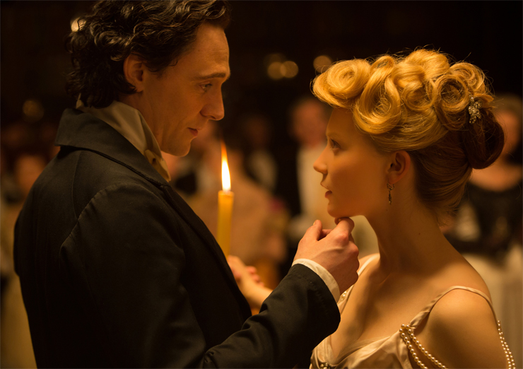 (from left): Tom Hiddleston, Mia Wasikowska.