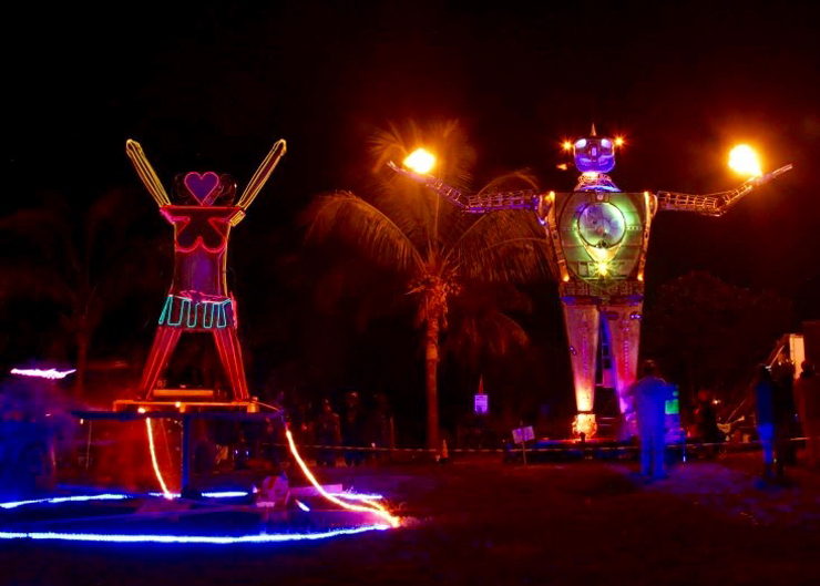 Love Burn 2015 Art Sculptures.