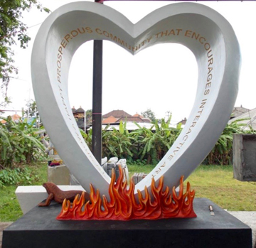 The Love Burn 2016 First Donation to Permanent Art Garden Inscribed with The Mission Statement.