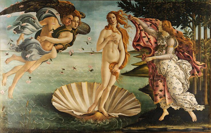 Nascita de Venere, by Sandro Botticelli.<br>Photo provided by Conde Contemporary.