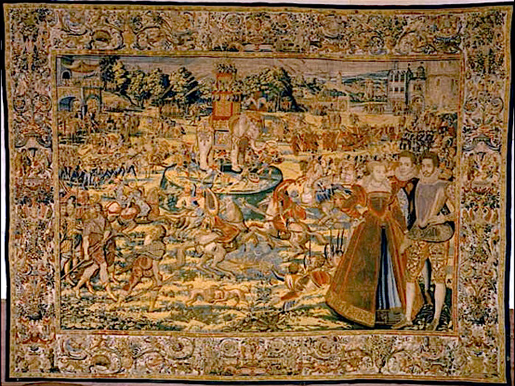 One of the Valois Tapestries.<br>Photo provided by Conde contemporary.