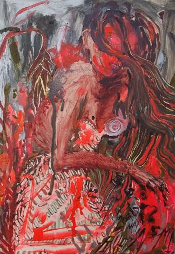 Naomi Fisher, oil on panel.