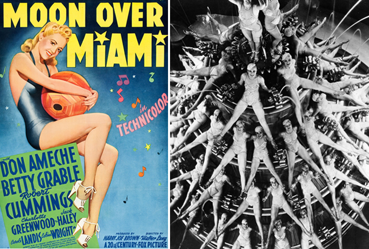 LEFT: Moon over Miami, RIGHT: Footlight Parade.