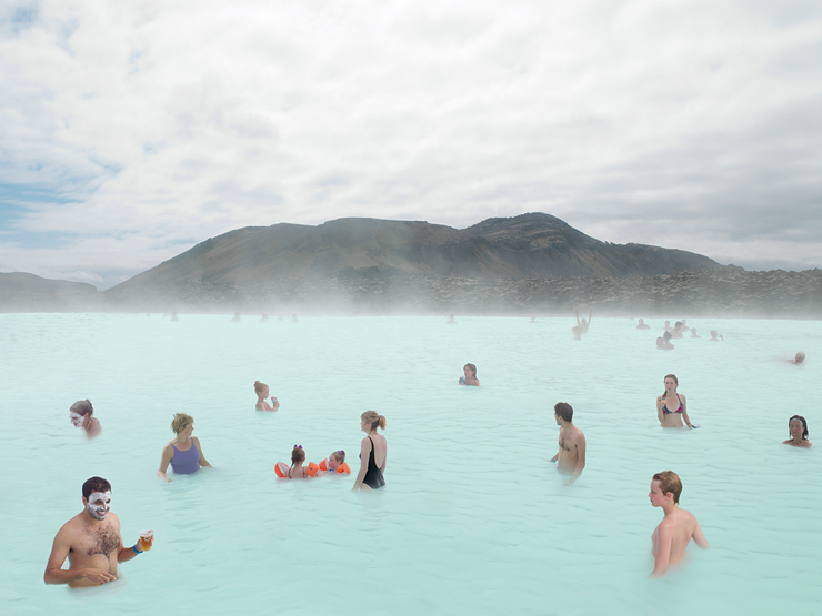Art Wynwood: Art Bastion, Blue Lagoon Scene No.2, Lightjet Print, Andrea Hamilton