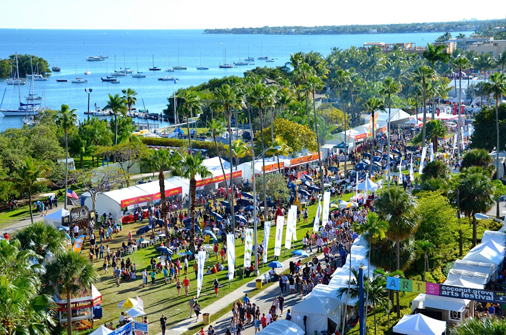 Aerial view of Coconut Grove Art Festival