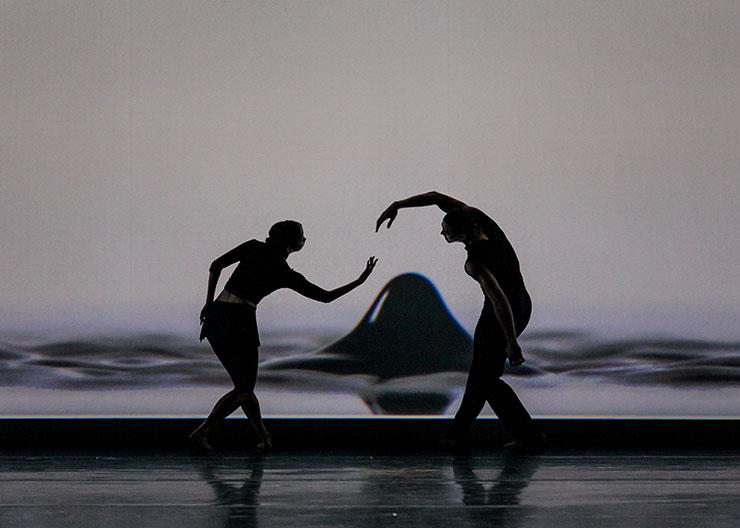 Jessica Lang Dance performing i.n.k. Dancers  Kana Kimura and Clifton Brown.<br> Photo by Sharen Bradford.