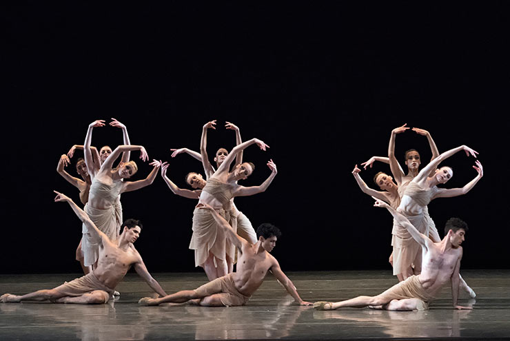 Miami City Ballet dancers in The Fairy's Kiss. Choreography by Alexei Ratmansky. Photo © Gene Schiavone.