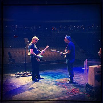 Steve Miller and Jimmie Vaughan (photo by Sean McCarthy)