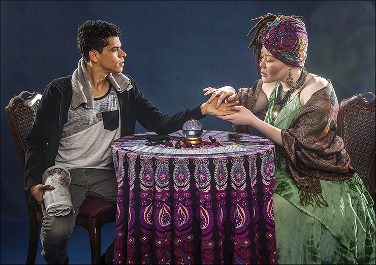 Phillip Andrew Santiago and Thiana Berrick in City Theatre's Summer Shorts XXII production of