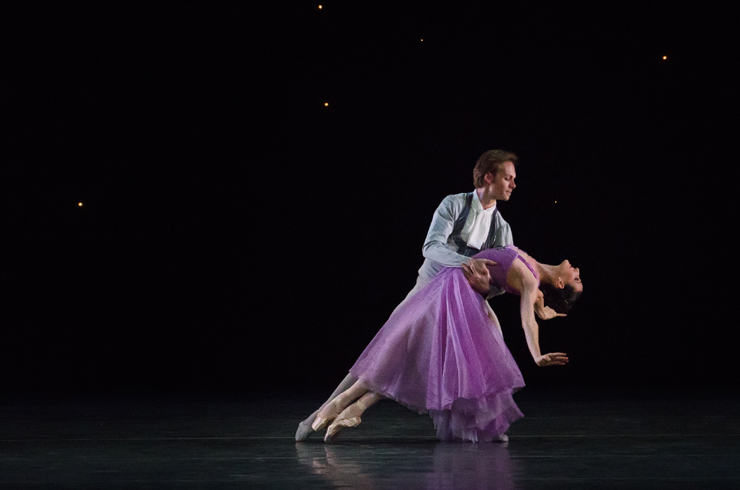 In the Night<br/> Tricia Albertson and Didier Bramaz, Choreography by Jerome Robbins, Photo by Kyle Froman.