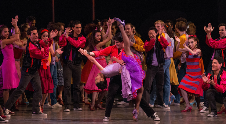 West Side Story Suite<br/> Miami City Ballet dancers, Choreography by Jerome Robbins, Photo by Alberto Oviedo.