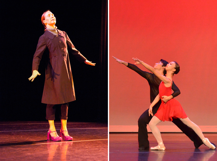 LEFT: Adele Myers. RIGHT: Arts Ballet Theatre.
