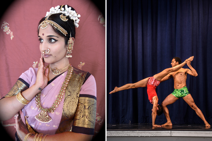 LEFT: Association of Performing Arts of India. RIGHT: ATMAYoga Dance.