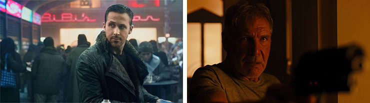 Left: Ryan Gosling   Right: Harrison Ford