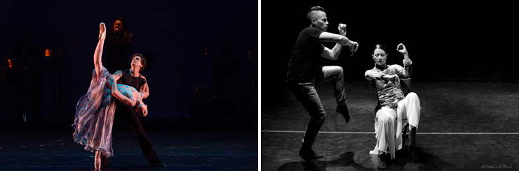 LEFT: Dimensions Dance Theatre. RIGHT: iMEE (Photo by David Lee Black).