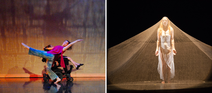 LEFT: Karen Peterson & Dancers. RIGHT: Momentum Dance Company.