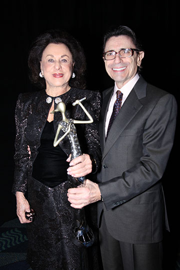 Drucker at the Miami Beach Arts Gala with Miami City Ballet's longtime artistic director Edward Villela.