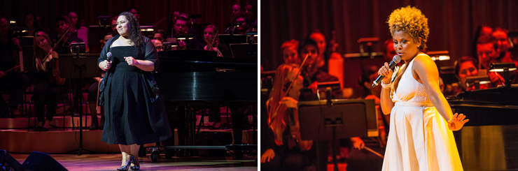LEFT: Brianna Thomas performances. RIGHT: Niki Haris performances.<br>Photo credited to Daniel Azoulay.