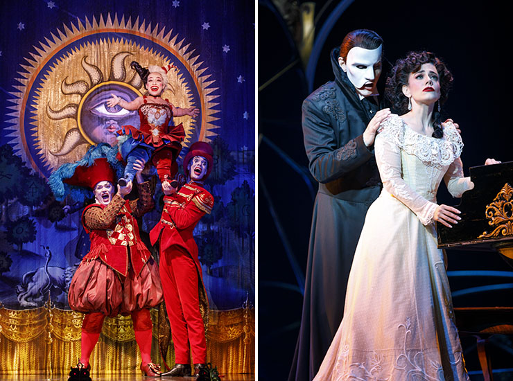 """LEFT: Richard Koons (""""Squelch""""), Katrina Kemp (""""Fleck"""") and Stephen Petrovich (""""Gangle"""") star in Love Never Dies. 