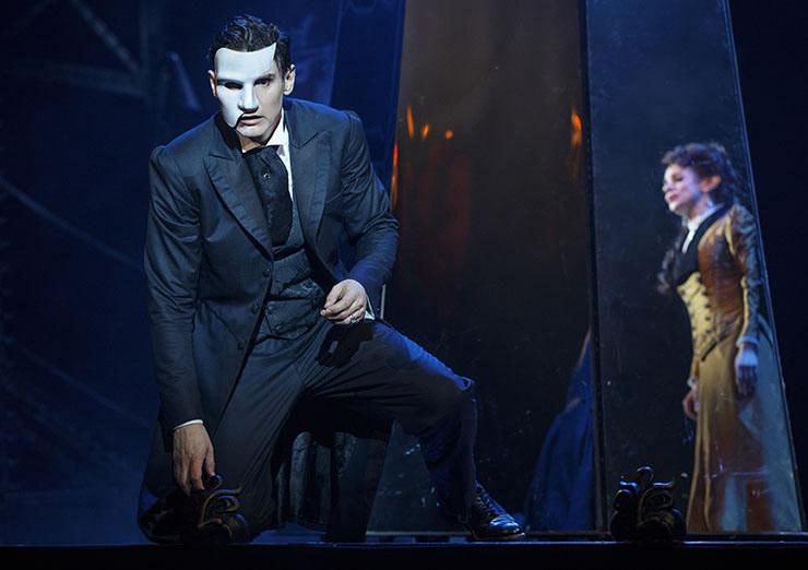 "Gardar Thor Cortes (""The Phantom"") and Meghan Picerno (""Christine Daaé"") star in"