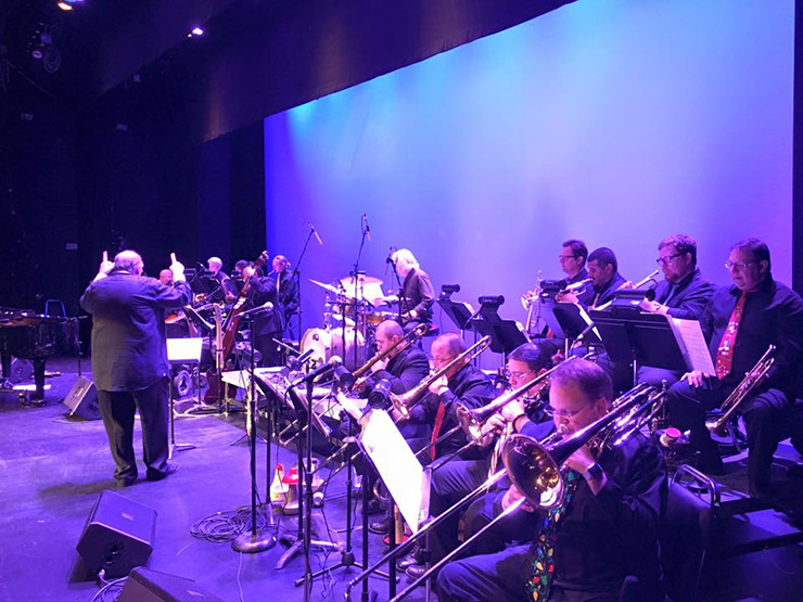 Mamblue Big Band performs at the Colony Theatre at last year's jazz fest.