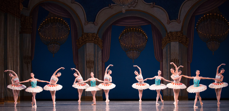 MCB dancers in Theme and Variations. Choreography by George Balanchine. The George Balanchine Trust. Photo by Alexander Iziliaev.