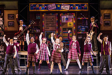 The cast of the School of Rock Tour. Photo by Matthew Murphy