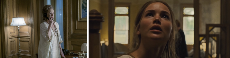 LEFT: Meryl Streep. RIGHT: Jennifer Lawrence.
