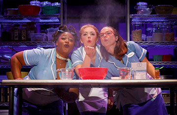 Charity Angel Dawson, Desi Oakley and Lenne Klingaman in the National Tour of WAITRESS. Photo by Joan Marcus