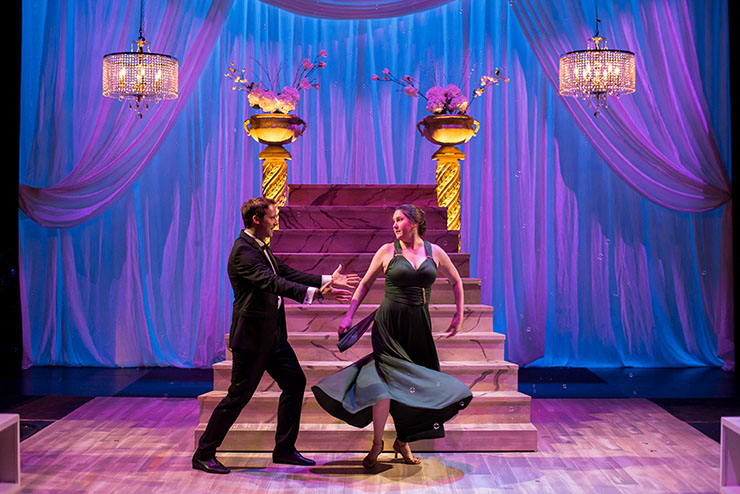 Caleb Scott and Lindsey Corey in Zoetic Stage's