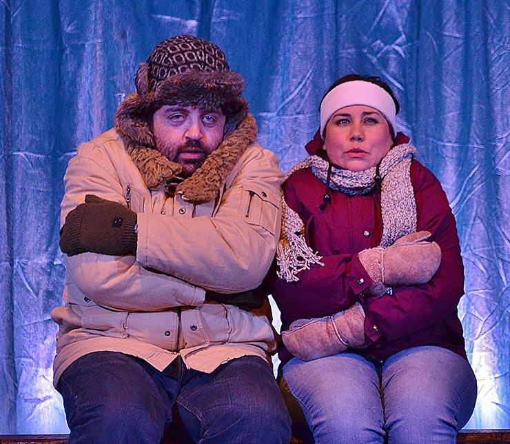 Zack Myers as Gary and Melissa Almaguer as Beth in