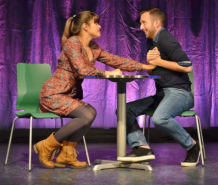 Robert Fritz as Tim and Laura Marrero as Claire in