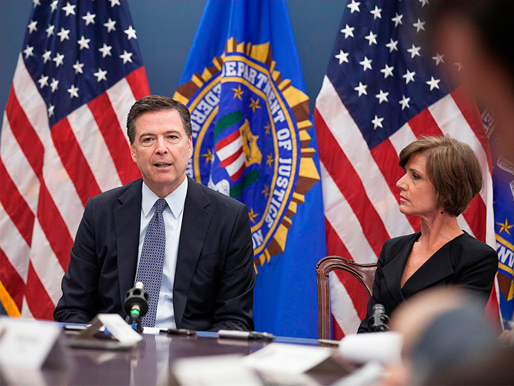 Former FBI Director James Comey and former Deputy Attorney General Sally Yates