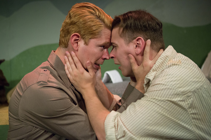 Rolfe Gruber (Jordan Armstrong) and Johan (Sahid Pabon) must keep their love affair secret with the Nazi takeover of Austria looming. Photos: 