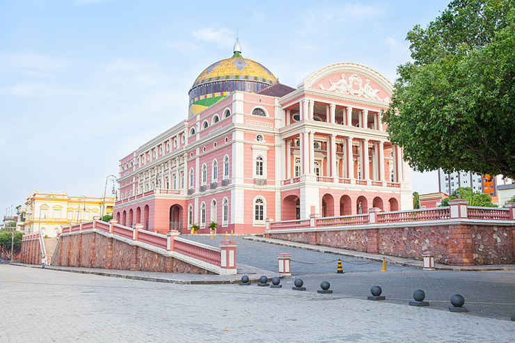 Teatro Amazonas, the unlikely opera house in the Amazonian rainforest.